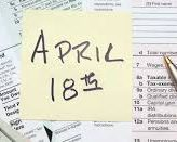 Tax Day is Tuesday, April 18th this Year!